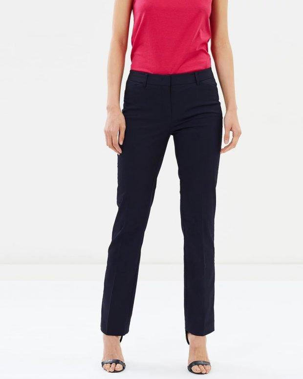 женские брюки осень зима 2019 2020: прямые темные