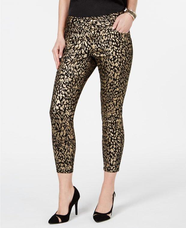 леопардовый принт золото
