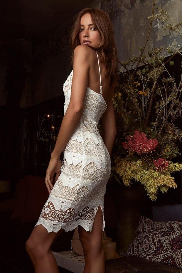 Нарядные платья 2020 2021: кружевное белое