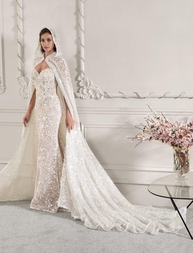 свадебное платье в греческом стиле: с капюшоном