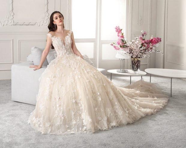 свадебное платье в греческом стиле: пышное