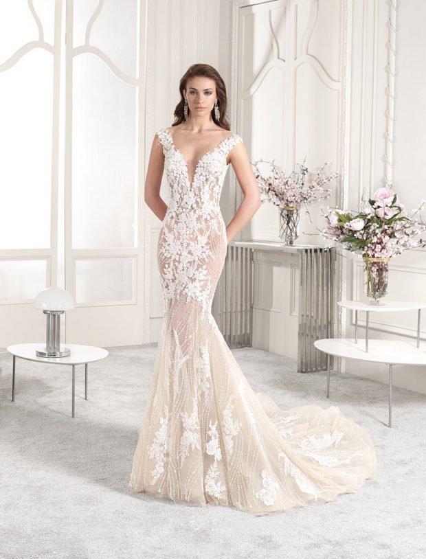 свадебное платье в греческом стиле: белое кружевное