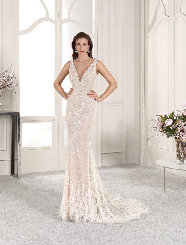свадебное платье в греческом стиле: облегающее