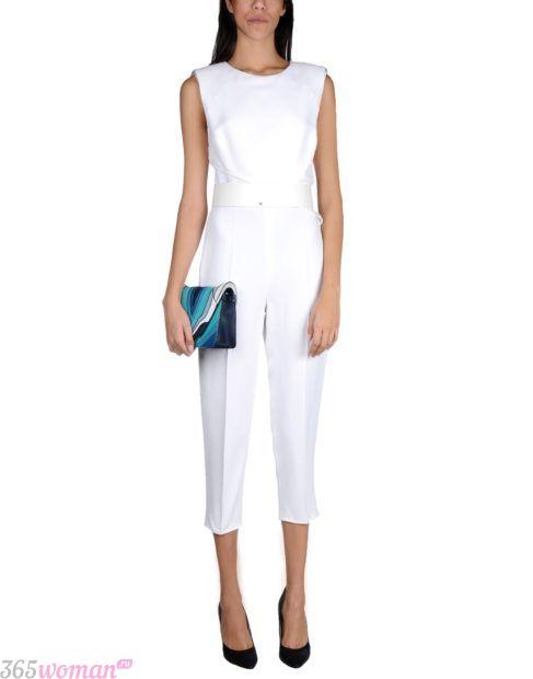белые укороченные брюки с чем носить
