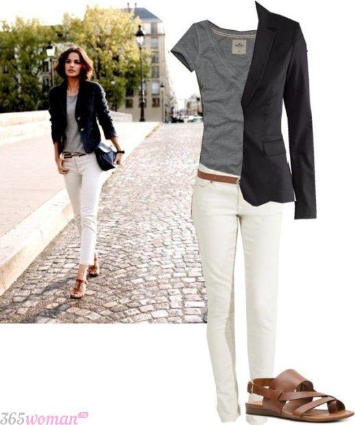 обувь к белым брюкам