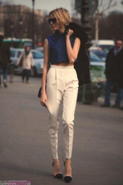 стильные белые брюки
