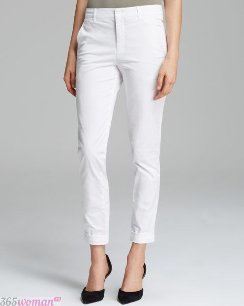 с чем носить белые брюки классические
