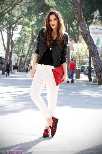 обувь к белым штанам