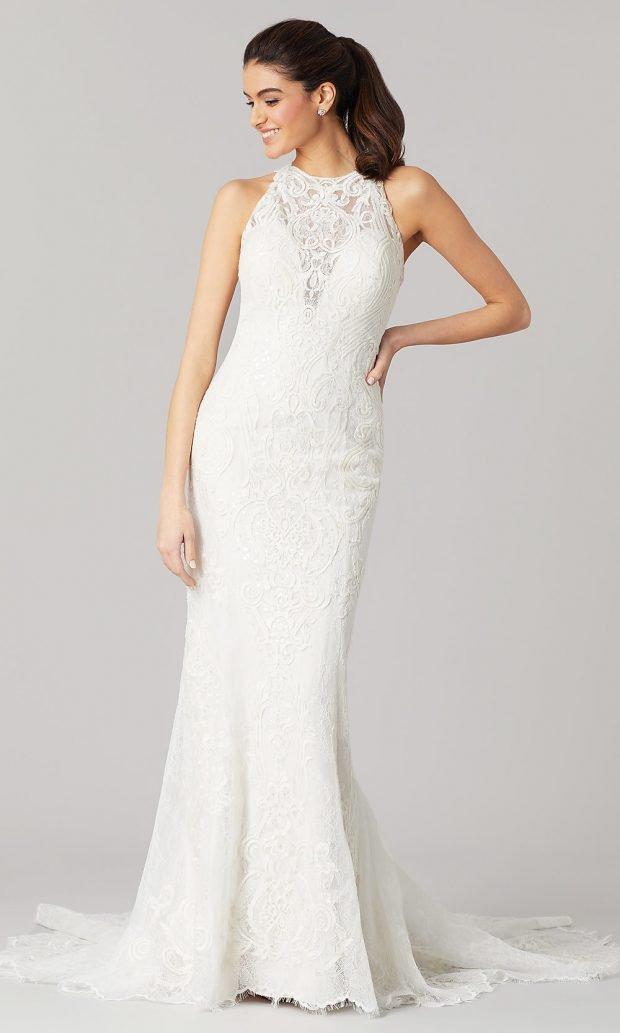 Длинные свадебные платья: белое длинное открытые плечи ажурное
