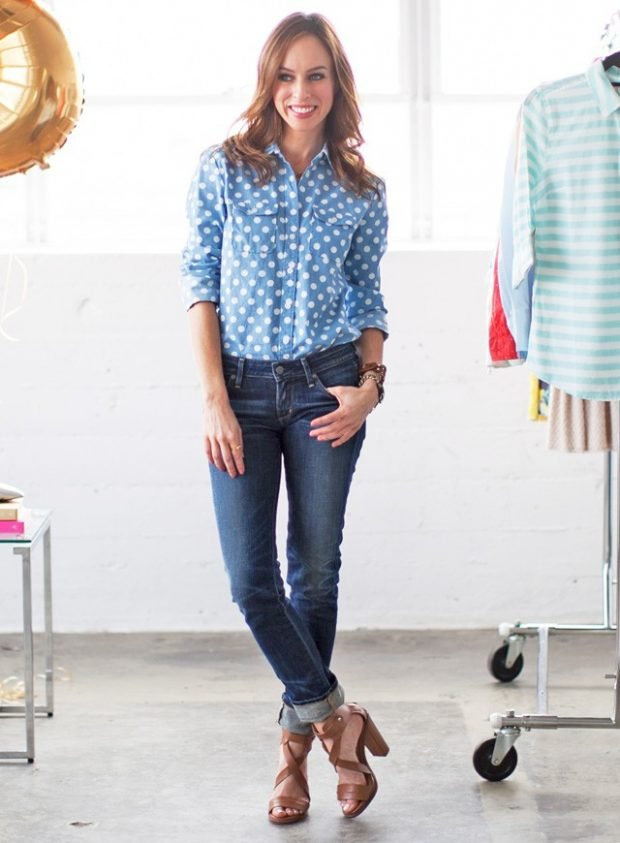 летние образы 2019 для девушек: с джинсами