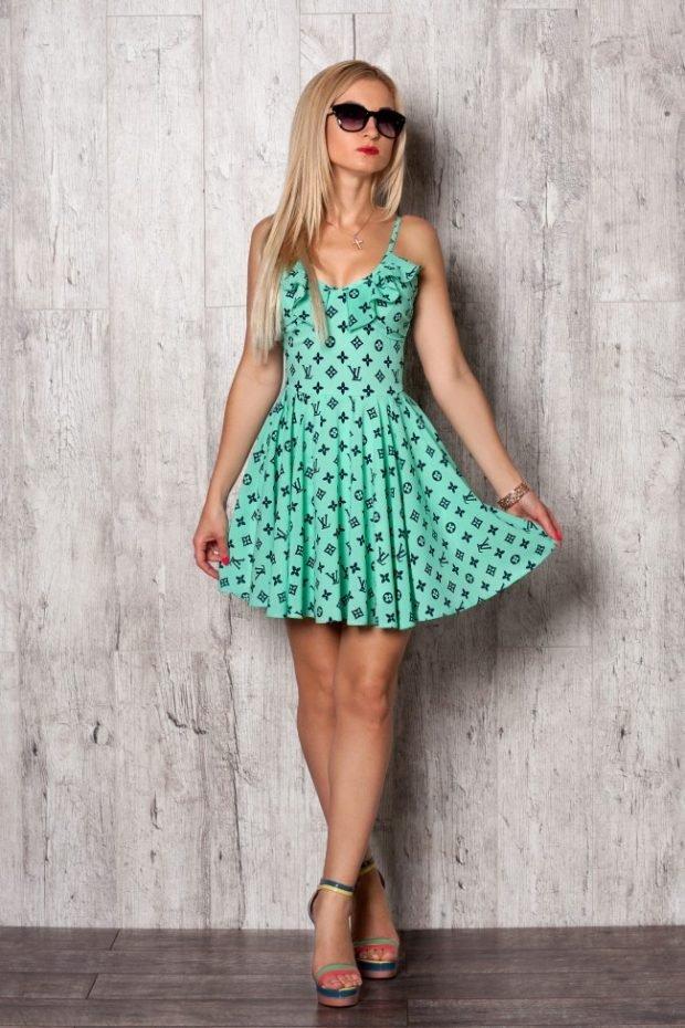 платье бирюзовый цвет