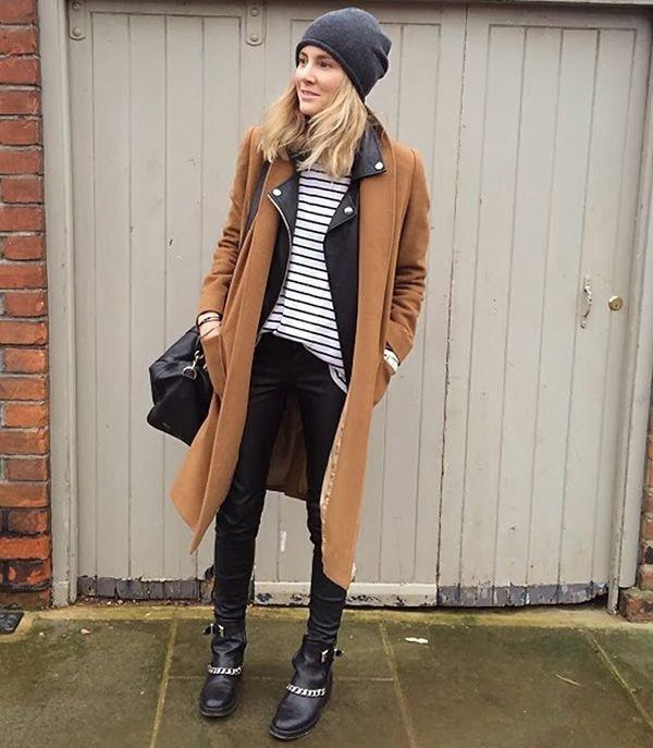 модные луки с пальто
