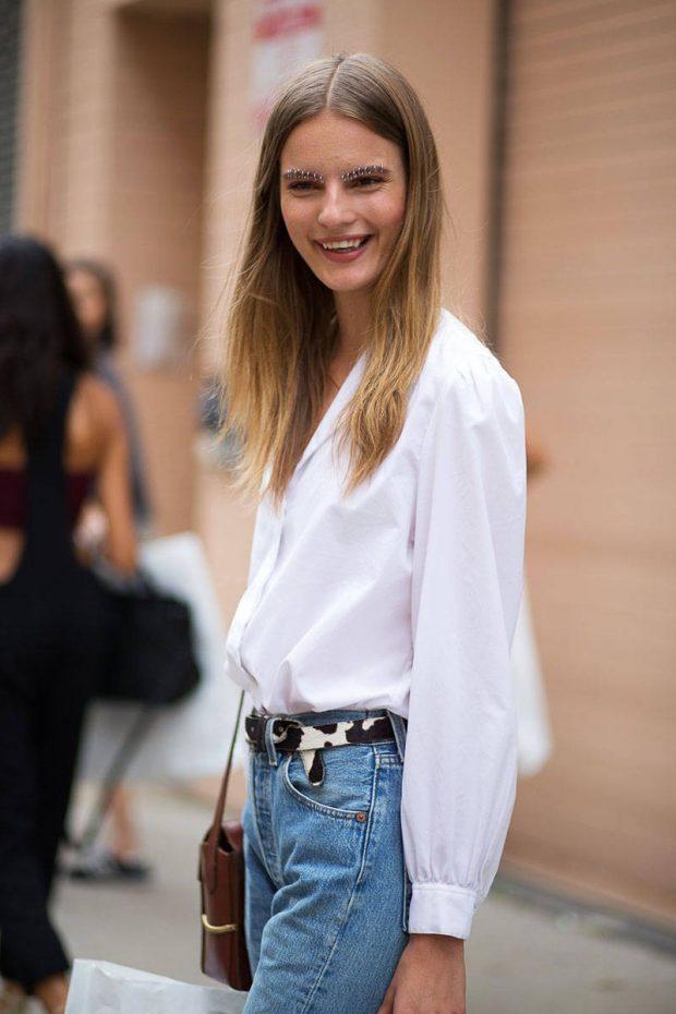 модные луки с рубашками