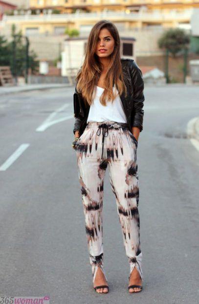 модные луки с брюками