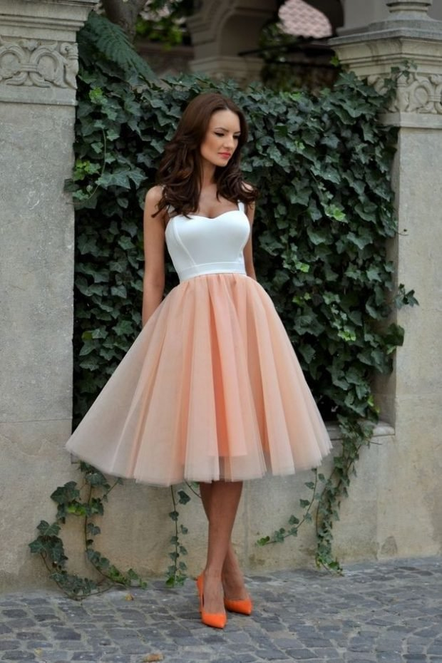 модные луки с юбками