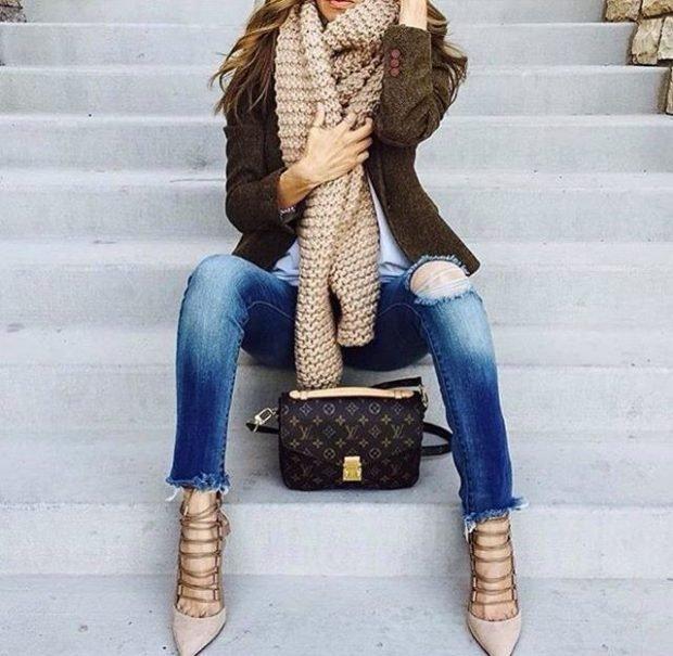 модные луки с аксессуарами