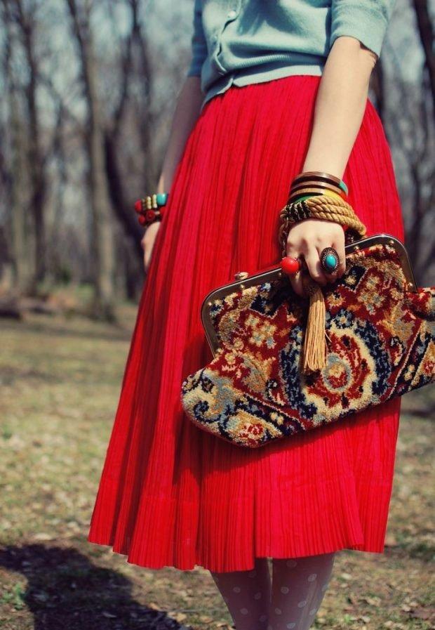 модные луки с сумками