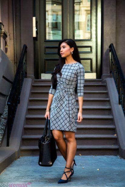 модные луки с платьями