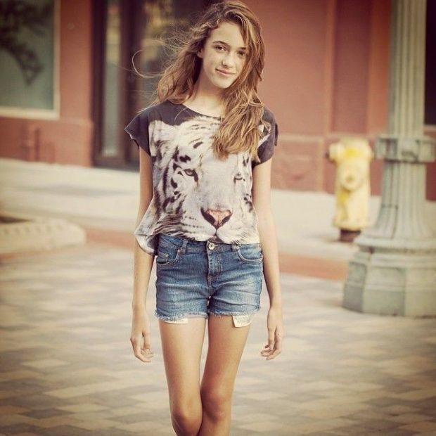 модные луки с футболками