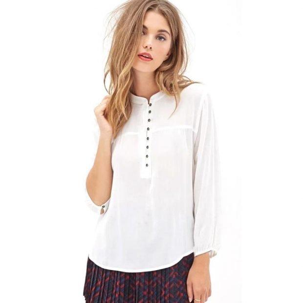 шифоновая блуза свободного кроя