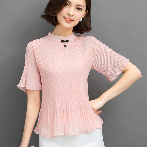 модные жатые блузки