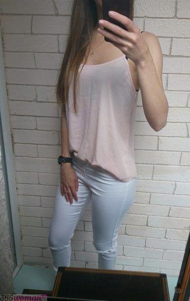 блуза из шифона в бельевом стиле
