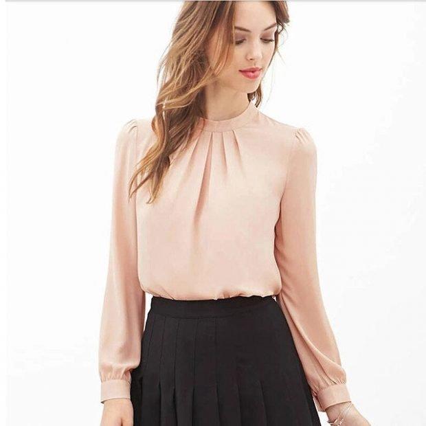 модные блузы из шифона
