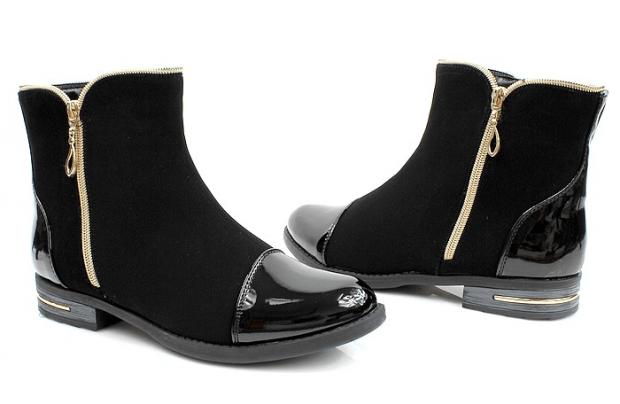 ботинки на низком ходу женские осень-зима 2018 2019 фото