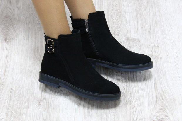 ботинки женские осень-зима 2018 2019 фото на низком ходу в моде