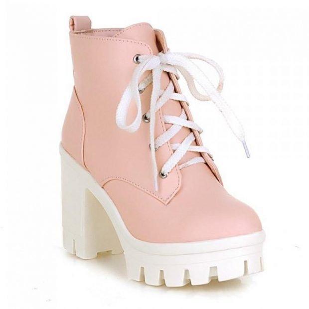 розовые на каблуке
