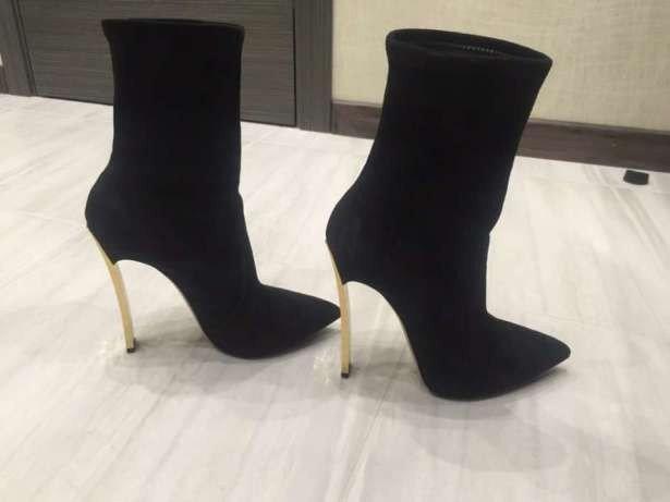 ботинки на шпильке женские осень-зима 2018 2019 фото