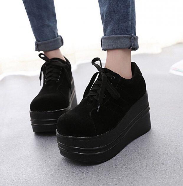 модные женские ботинки осень зима 2020: на платформе фото