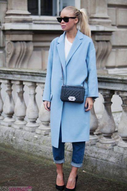 модный голубой цвет в одежде 2018 2019 года фото тренды