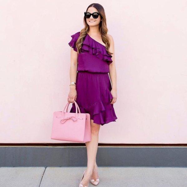 модный сиреневый цвет в одежде 2018 2019 тенденции фото
