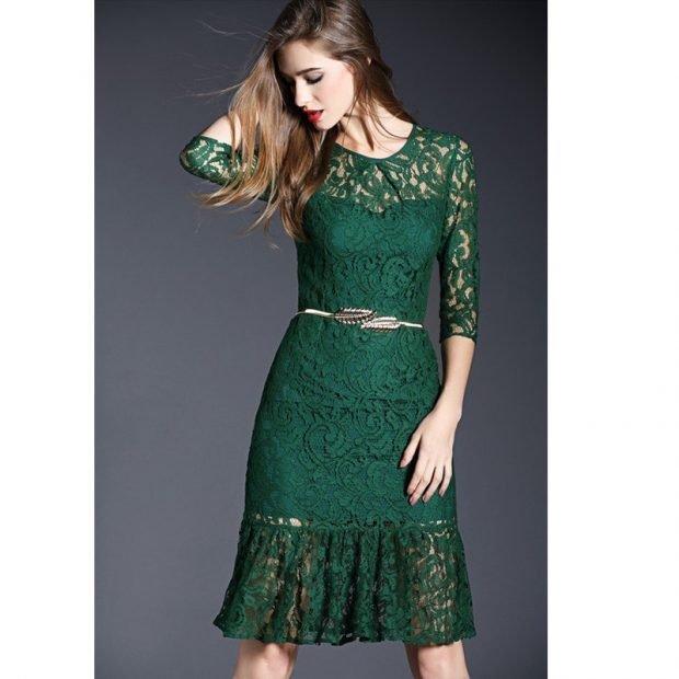 модный зеленый цвет в одежде 2018 2019 год тренды фото