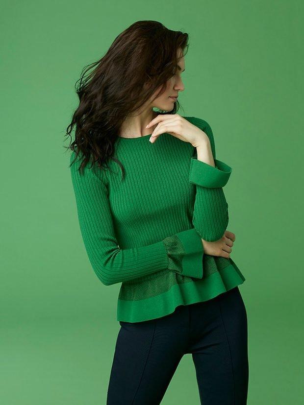 осень зима 2019 2020 цвет: зеленый в одежде фото тренды
