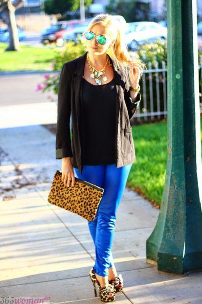 синий и черный цвет в одежде