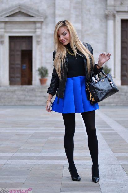 синий цвет с чем сочетается в одежде
