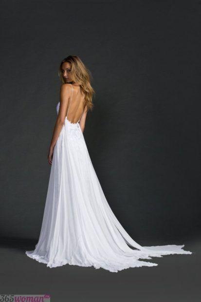свадебное платье с открытой спиной: в стиле ампир