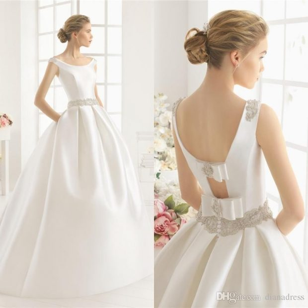 платье с открытой спиной для невесты