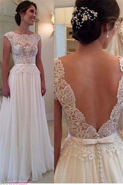 свадебные платья с открытой спиной не пышные