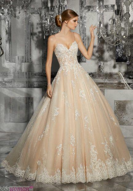 длинные свадебные платья: классические модели