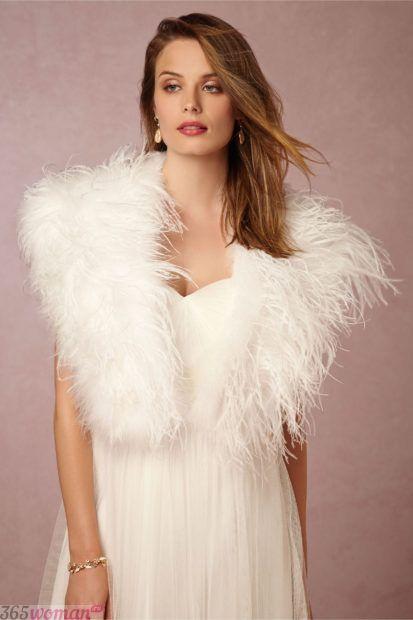 свадебные платья в пол: болеро