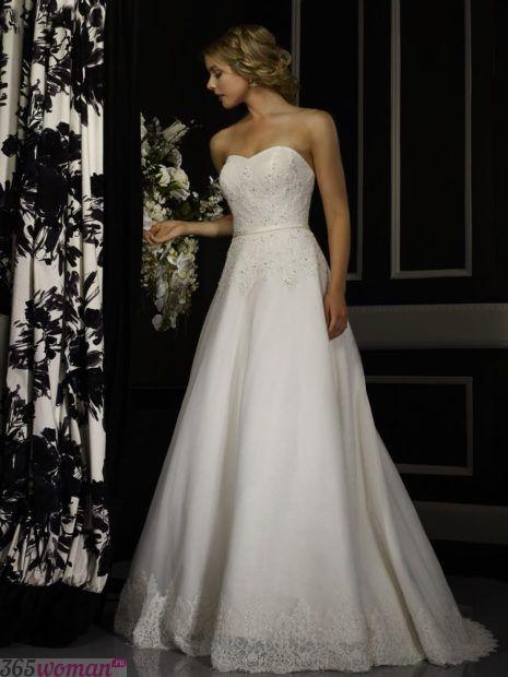 свадебные платья длинные: А-силуэта