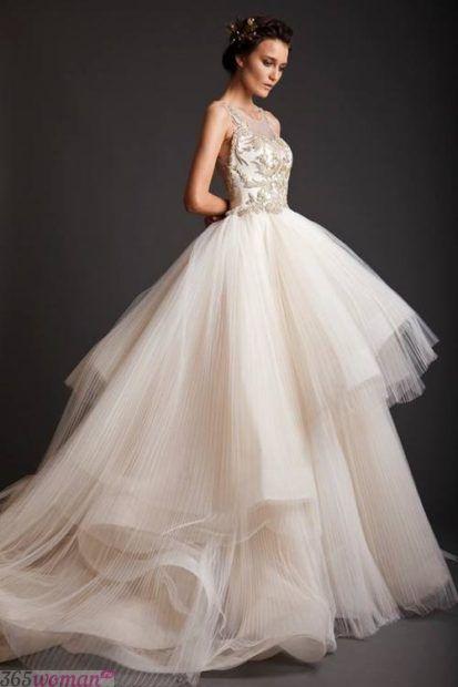 свадебные платья в пол: модные ткани
