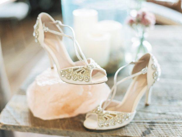 свадебные платья в пол: туфли