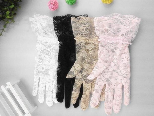 свадебные платья в пол: перчатки