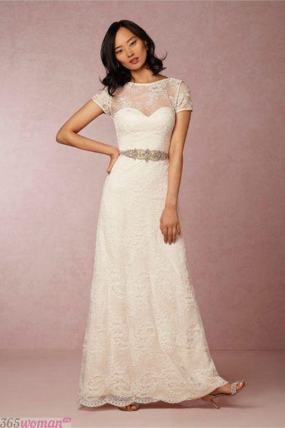 свадебные платья длинные: прямое
