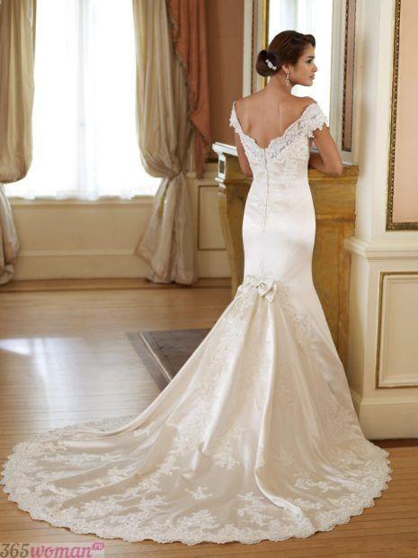 свадебные платья длинные: рыбка