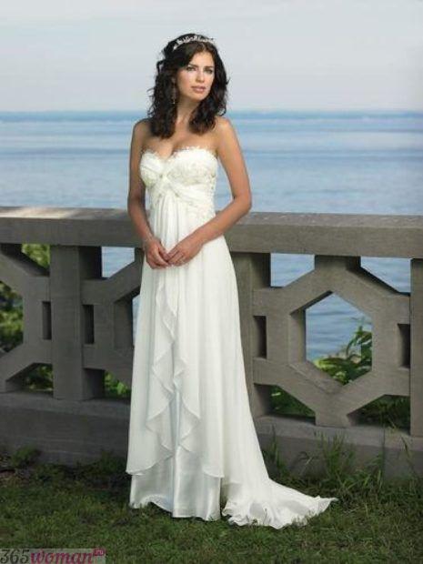 свадебные платья длинные: в стиле ампир